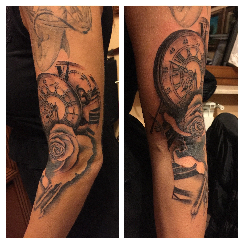 Tatuaggio di un orologio